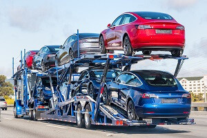 The cost of a car shipment