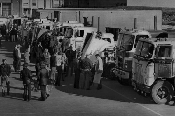 Trucks And Truckers Gather For Protest